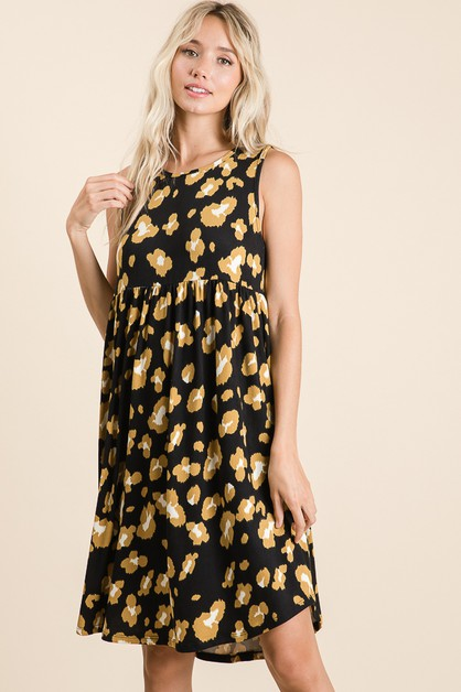 CASUAL ANIMAL PRINT DRESS  - orangeshine.com