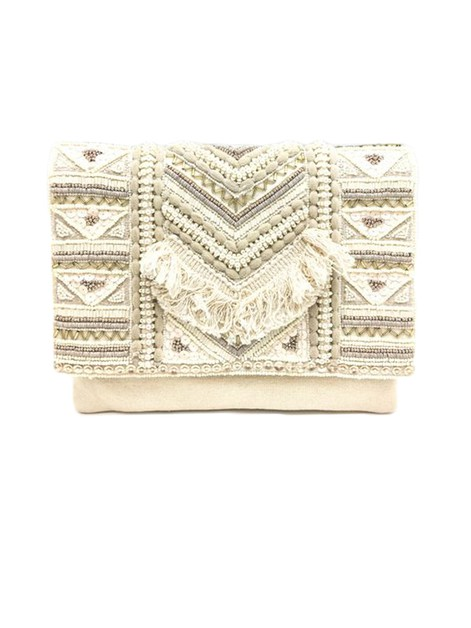 Ethnic Style Beaded Clutch Bag  - orangeshine.com