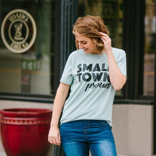 SMALL TOWN PROUD GRAPHIC TEES - orangeshine.com