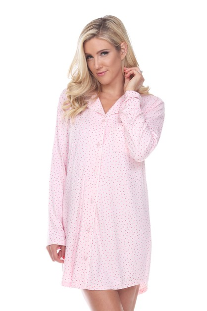 Long Sleeve Nightgown - orangeshine.com
