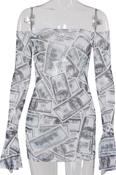 US dollar printing dress - orangeshine.com