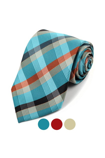 Microfiber Poly Woven Men Tie  - orangeshine.com