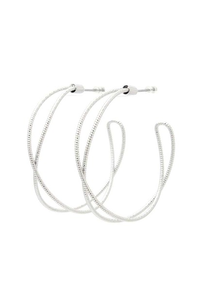 SODAJO TEXTURED METAL HOOP EARRING - orangeshine.com