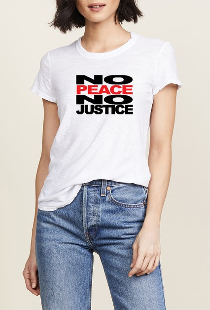 NO PEACE NO JUSTICE Graphic T shirt  - orangeshine.com