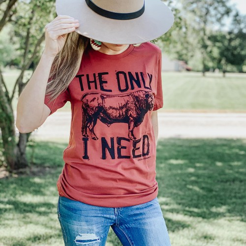 THE ONLY BULL I WANT GRAPHIC TEES - orangeshine.com