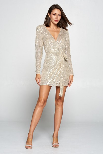 Sequin Short Party Dress - orangeshine.com