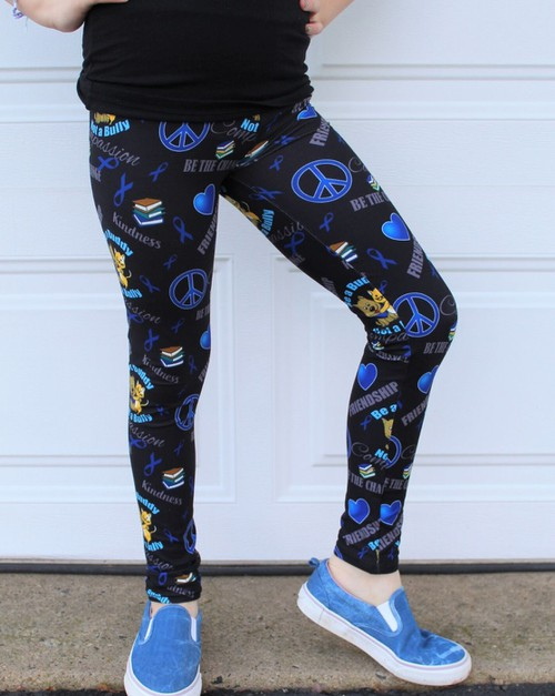 Anti Bullying Leggings Girls - orangeshine.com