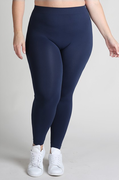 Plus Size Ankle Length Leggings - orangeshine.com