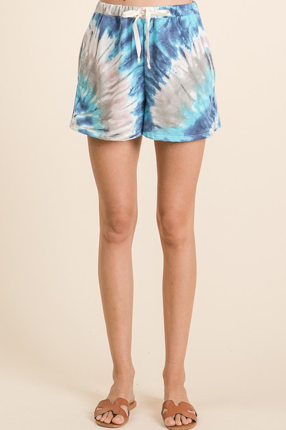 Swirly Me Tie Dye Shorts - orangeshine.com