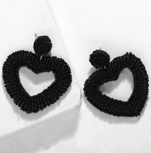 Heart Bead Earring - orangeshine.com