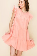 A LINE TIERED MINI DRESS - orangeshine.com