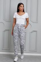 Casual Skinny Leopard Print Pants - orangeshine.com