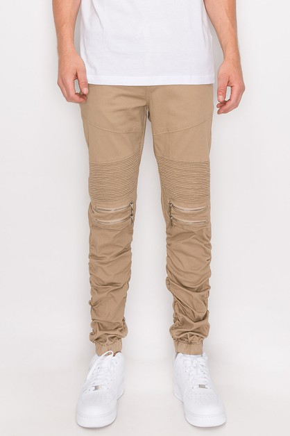 MEN TWILL BUNGEE JOGGER PANTS - orangeshine.com