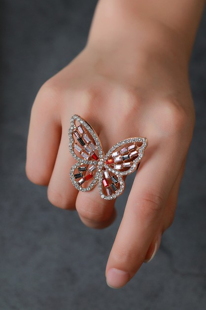 Crystal Butterfly Ring - orangeshine.com