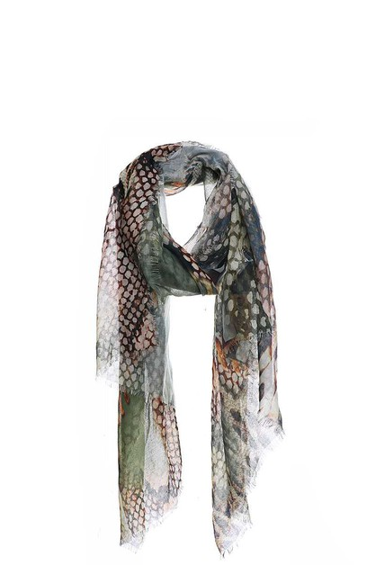 CHIC SOFT ANIMAL PATTERN PRINT SCARF - orangeshine.com