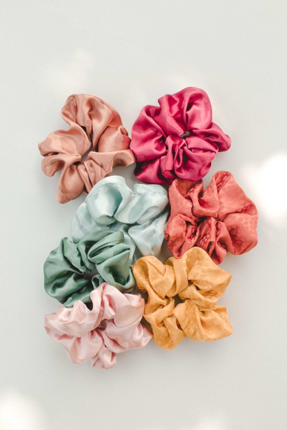 7-pack Satin Scrunchies - orangeshine.com