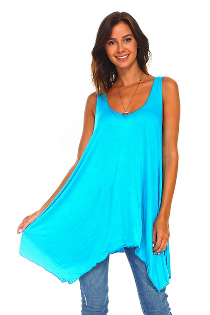 Sleeveless Swing Tunic - Plus Size - orangeshine.com