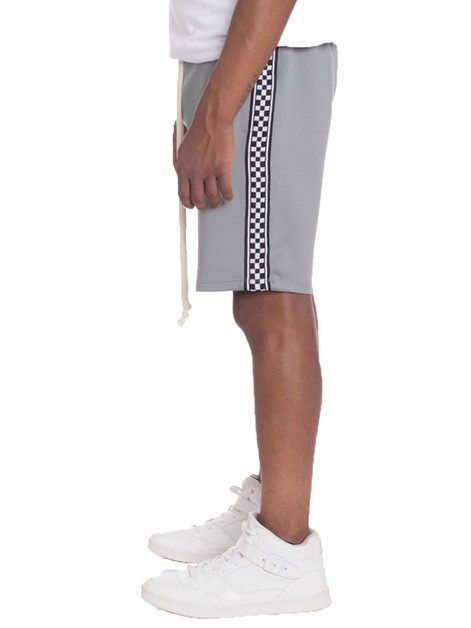 CHECKERED STRIPE SHORTS - orangeshine.com