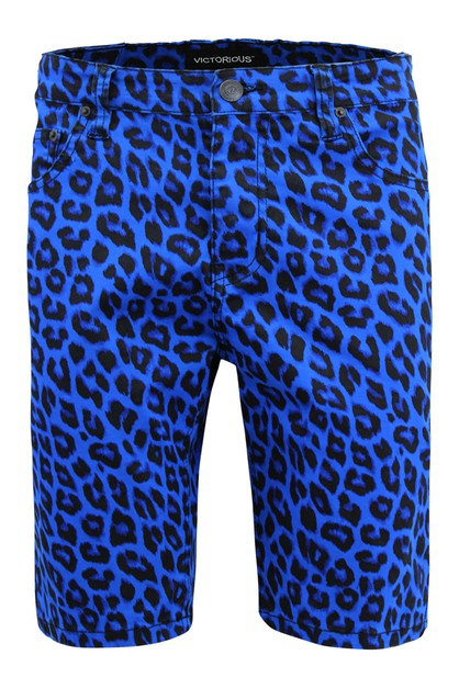 MEN LEOPARD PRINT SHORTS - orangeshine.com