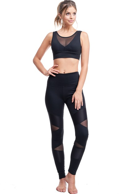 Biker Detailed Mesh Legging - orangeshine.com