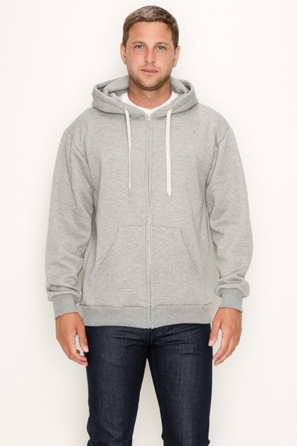 Zipper Hoodie Heather Regular Size - orangeshine.com