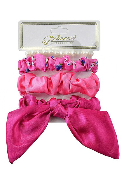 4-pc Scrunchies Set - orangeshine.com