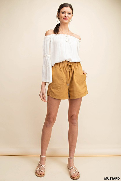 OXFORD WITH STRING SHORTS - orangeshine.com
