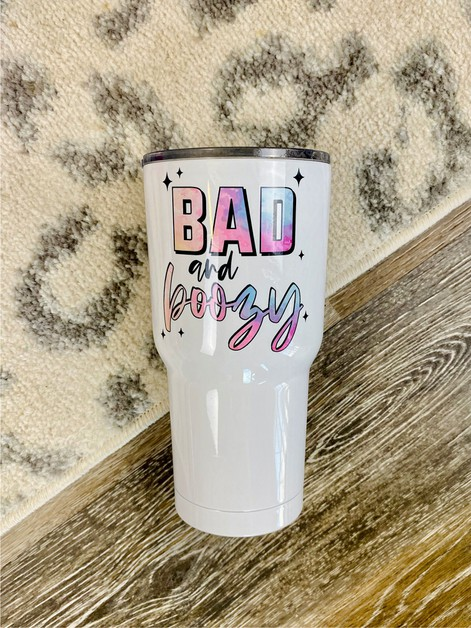 Bad and Boozy 30oz Tumbler  - orangeshine.com