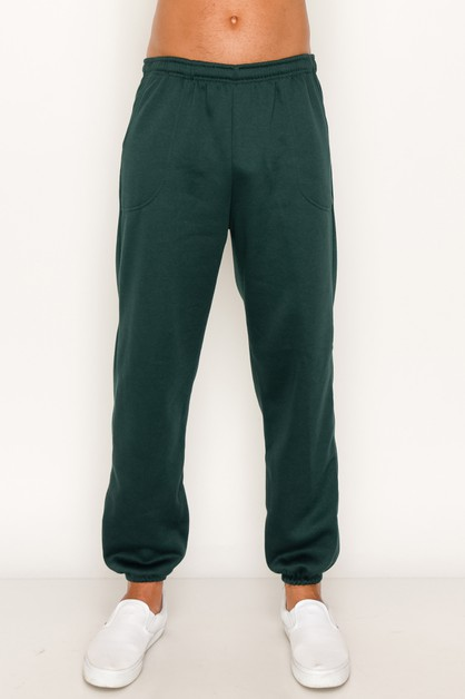 Heavy Sweatpants Solid Big Size - orangeshine.com