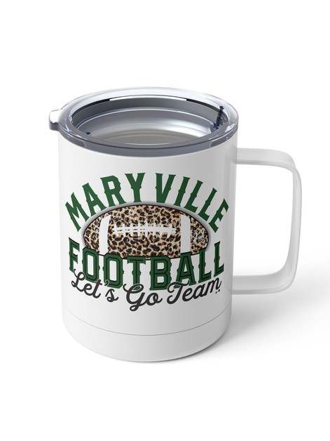 Football Lets go Team Steel Mug - orangeshine.com