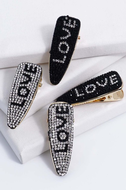 Rhinestone Hair Clips - orangeshine.com