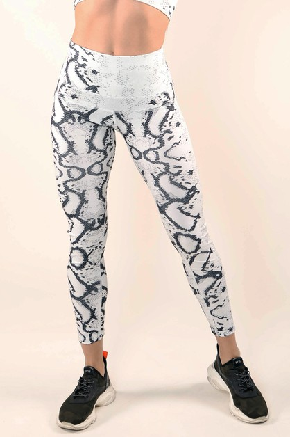 Fade Out Snake Print Active Legging - orangeshine.com