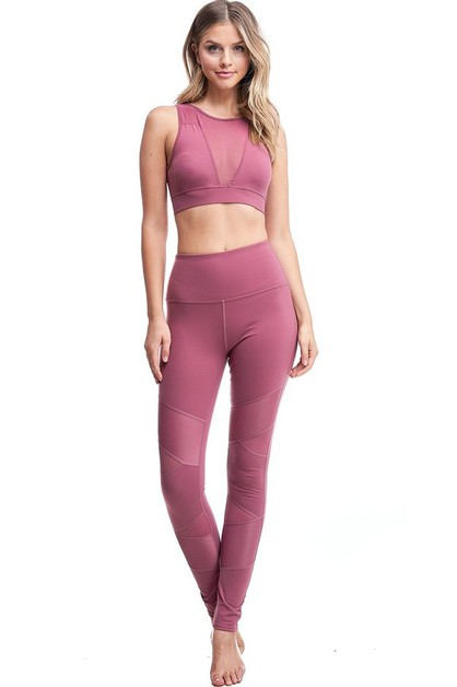 Biker Inspired Mesh Active Legging - orangeshine.com