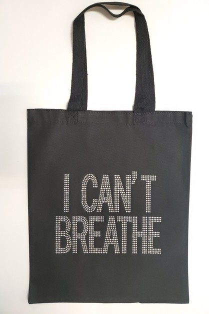 I CAN`T BREATHE Clear Rhinestone Tot - orangeshine.com