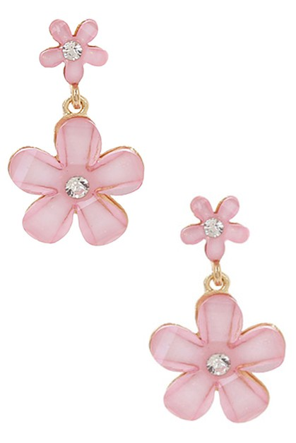Flower Dangle Earring - orangeshine.com