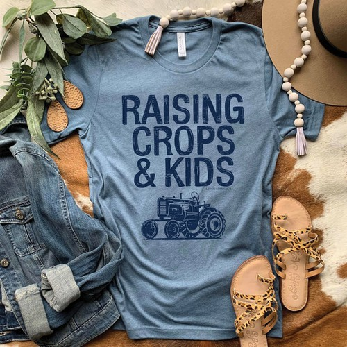 RAISING CROPS AND KIDS Graphic Tees - orangeshine.com