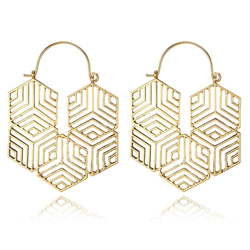 Hex Earrings - orangeshine.com