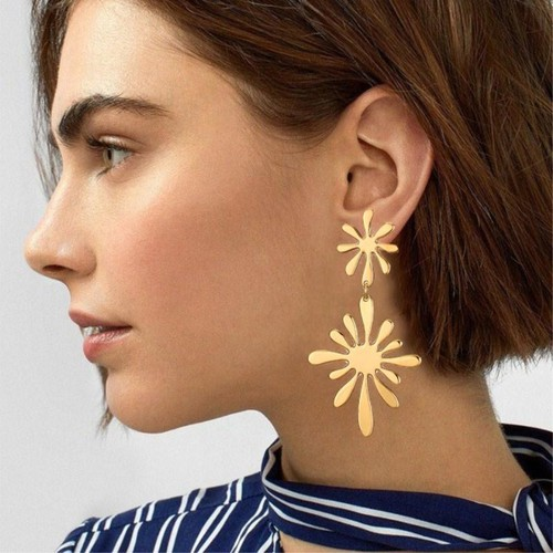 Double Flower Earrings - orangeshine.com