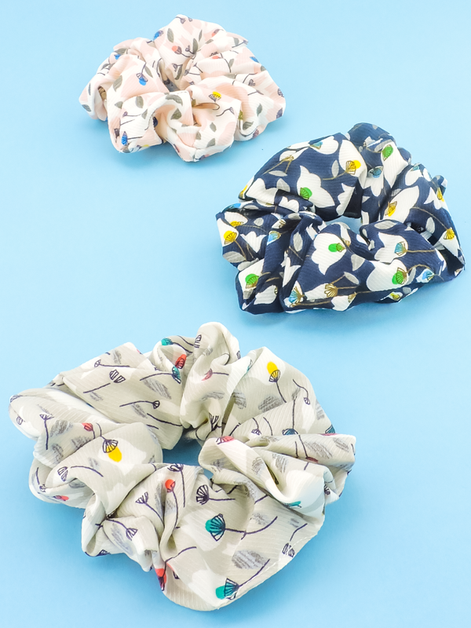Spring Bouquet Scrunchies - orangeshine.com