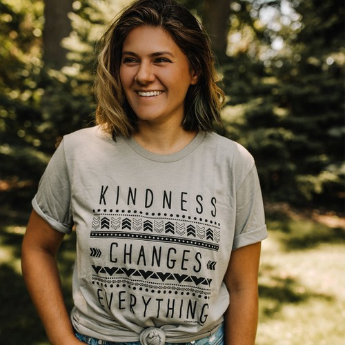 KINDNESS CHANGES EVERYTHING Tee  - orangeshine.com