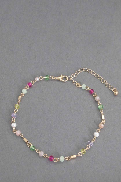BEADS CHAIN ANKLET - orangeshine.com