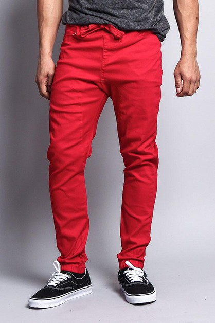 MEN TWILL JOGGER PANTS - orangeshine.com