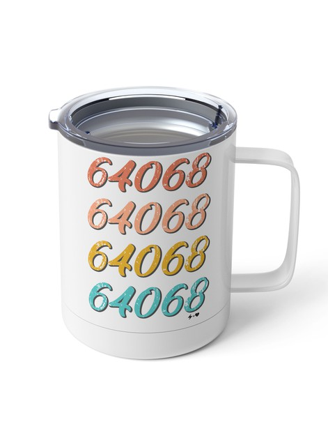 Retro Zip Code Steel Mug - orangeshine.com