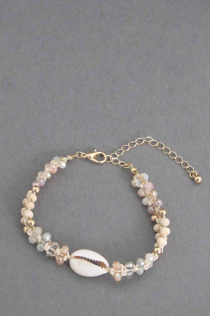 SHELL WITH  BEADS ANKLET - orangeshine.com