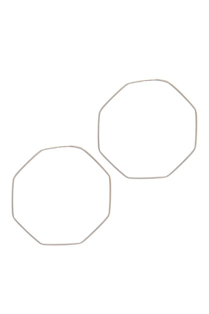 HEXAGON SHAPE HOOP EARRING - orangeshine.com