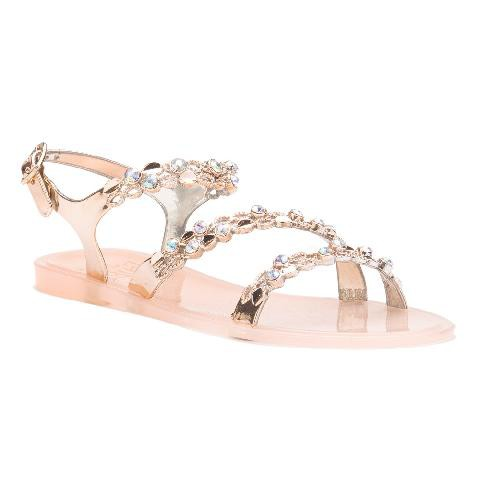JELLY SANDAL WITH BUCKLE STRAP - orangeshine.com