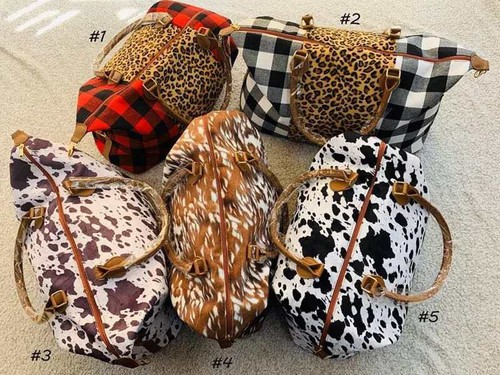 Leopard animal print Weekender bags - orangeshine.com