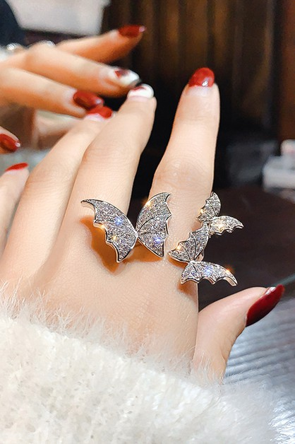 Butterfly Cubic Zirconia Ring - orangeshine.com