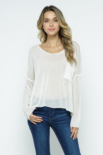 Sheer Knit Top - orangeshine.com