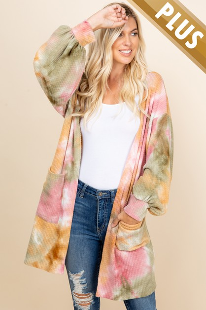PLUS SIZE TIE DYE WITH SIDE POCKETED - orangeshine.com